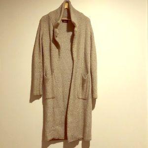 Long Beige Zara Knit